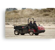 Beach Workers Canvas Print