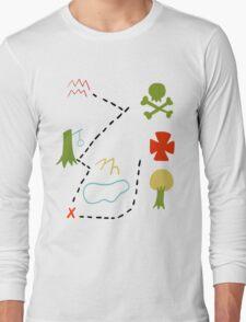 Peter Pan Map Long Sleeve T-Shirt