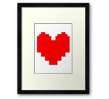 Undertale Heart Framed Print
