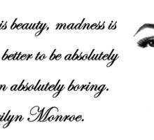 Imperfection Is Beauty - Marilyn Monroe Sticker