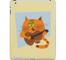 Cat playing guitar iPad Case/Skin