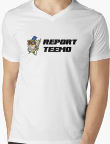 Report Teemo Mens V-Neck T-Shirt