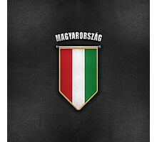 Hungary Pennant with high quality leather look Photographic Print