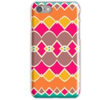 Symmetric shapes in retro colors iPhone Case/Skin