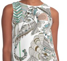 Elephant and Dragon Fly Contrast Tank