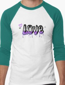 Asexual Love Men's Baseball ¾ T-Shirt