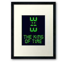 King of Time - 3:13 Framed Print
