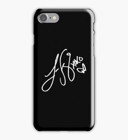 Lauren Jauregui signature - White text ( New ) iPhone Case/Skin
