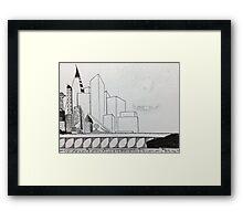 Empty Skyline Framed Print