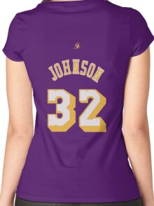 Magic Johnson Women's Fitted Scoop T-Shirt