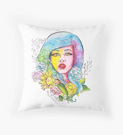 Flower Glaxy  Throw Pillow