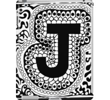 Initial J Black and White iPad Case/Skin