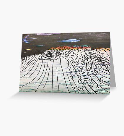 Night Surfing Greeting Card