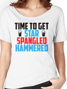 Get Star Spangled Hammered Women's Relaxed Fit T-Shirt