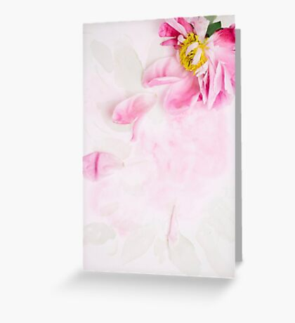 Withered peony Greeting Card