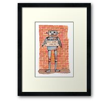 Homeless Robot Framed Print