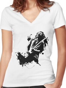Ink Frusciante Women's Fitted V-Neck T-Shirt