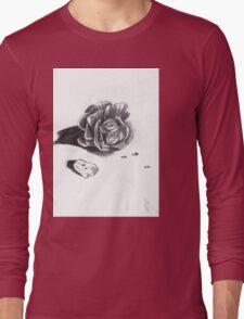 Wet Rose Long Sleeve T-Shirt