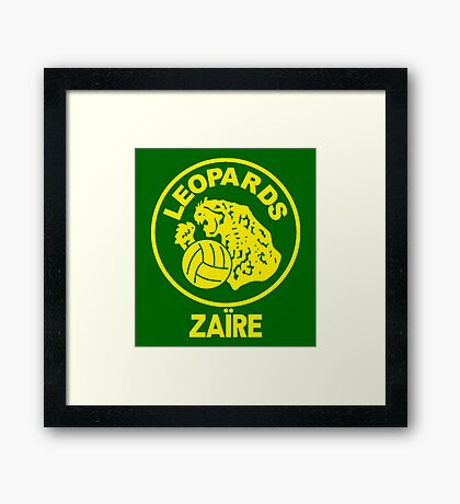 ZAIRE 1974 WORLD CUP Framed Print
