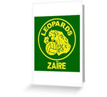 ZAIRE 1974 WORLD CUP Greeting Card