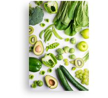 Green food on white Canvas Print