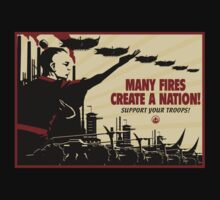 Many Fires Create A Nation by Crocktees
