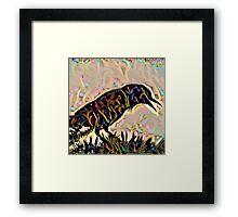 Shamanic Raven Framed Print