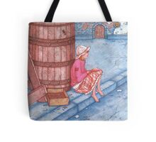 Girl on the street  Tote Bag
