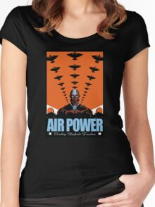 Air Power: Bending Defends Freedom Women's Fitted Scoop T-Shirt