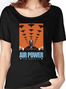 Air Power: Bending Defends Freedom Women's Relaxed Fit T-Shirt