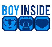 Baby inside foot Soother heart boy by Style-O-Mat