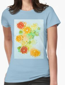 Triangulated citrus Womens Fitted T-Shirt