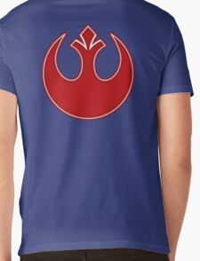 Rebel Alliance Neon Symbol Mens V-Neck T-Shirt