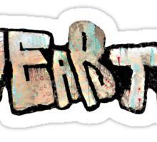 Love art hate cops graffiti Sticker