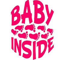 Baby inside footprints girl by Style-O-Mat