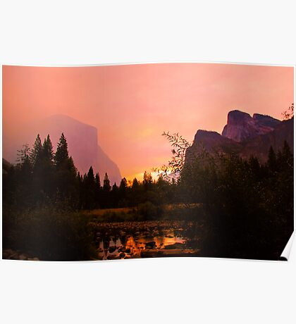 Fiery Morning at Yosemite Poster