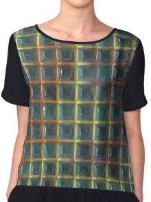 Square holes pattern Chiffon Top