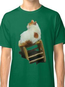 Cat playing perched Classic T-Shirt