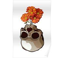 Skull vase Poster