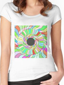 Colorful whirlpool abstract design Women's Fitted Scoop T-Shirt