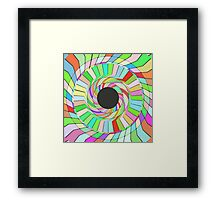 Colorful whirlpool abstract design Framed Print