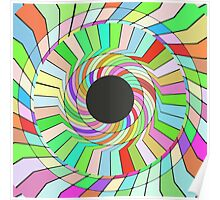Colorful whirlpool abstract design Poster