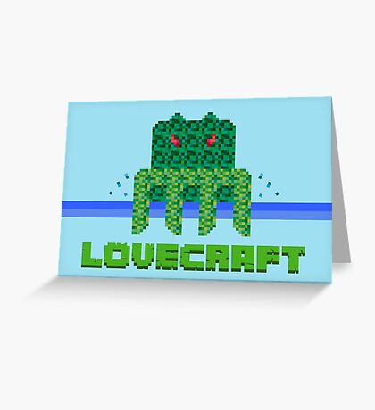 Lovecraft Minecraft Greeting Card