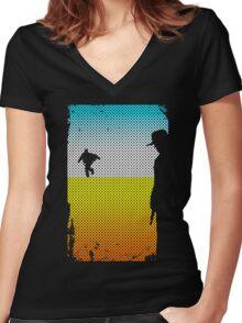 And The Gunslinger Followed Women's Fitted V-Neck T-Shirt