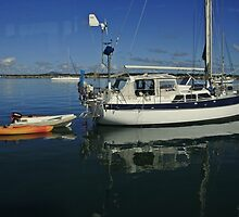 A Yacht, a Tinny and two Kayaks by myraj