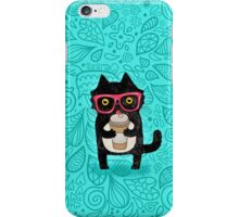 Coffee Cat and Doodles iPhone Case/Skin