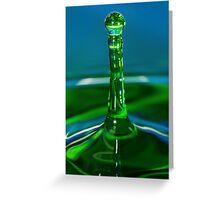 Green Water Drop Greeting Card