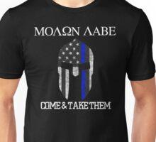 Molon Labe Spartan USA Flag Unisex T-Shirt