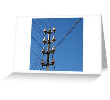 Telegraph Wires Greeting Card