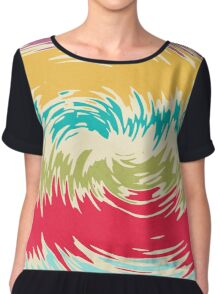 Colorful whirlpool Chiffon Top
